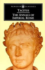 Cover of: The annals of imperial Rome: Translated with an introd. by Michael Grant.