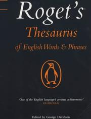 Cover of: Roget's Thesaurus of English Words and Phrases (Penguin Reference Books)