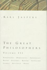 Cover of: The Great Philosophers