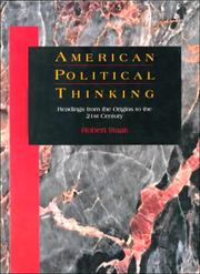 Cover of: American Political Thinking