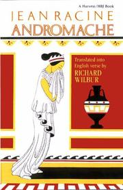 Cover of: Andromache, by Racine