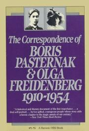 Cover of: The Correspondence of Boris Pasternak and Olga Friedenberg