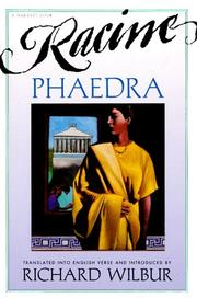 Cover of: Phaedra, by Racine