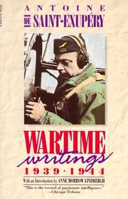 Cover of: Wartime writings, 1939-1944