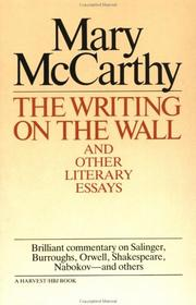 Cover of: Writing On The Wall & Other Lit Essays