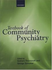 Cover of: Textbook of community psychiatry