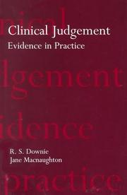 Cover of: Clinical Judgement
