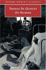 Cover of: On murder