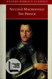 Cover of: Niccolo Machiavelli: The Prince (Oxford World's Classics)