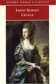 Cover of: Cecilia, or Memoirs of an Heiress (Oxford World's Classics)