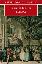 Cover of: Evelina (Oxford World's Classics)