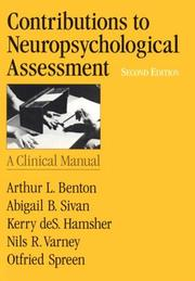 Cover of: Contributions to Neuropsychological Assessment