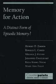 Cover of: Memory for Action