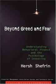 Cover of: Beyond Greed and Fear