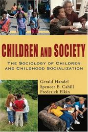 Cover of: Children and Society