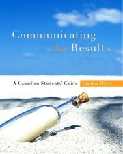 Cover of: Communicating for Results: A Canadian Student's Guide