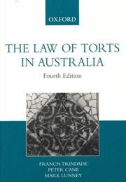 Cover of: The Law of Torts in Australia