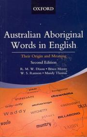 Cover of: Australian Aboriginal Words in English