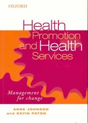 Cover of: Health Promotion and Health Services