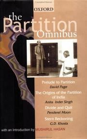 Cover of: The Partition Omnibus: comprising<br> Prelude to Partition
