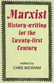 Cover of: Marxist History-writing for the Twenty-first Century (British Academy Occasional Papers)