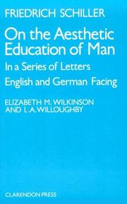 Cover of: On the aesthetic education of man, in a series of letters