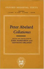Cover of: Abelard's Collationes (Oxford Medieval Texts)