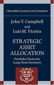Cover of: Strategic asset allocation