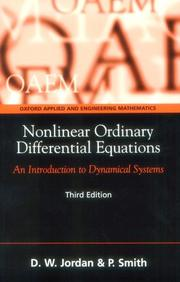 Cover of: Nonlinear Ordinary Differential Equations