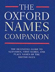 Cover of: The Oxford Names Companion