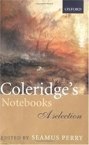 Cover of: Coleridge's Notebooks