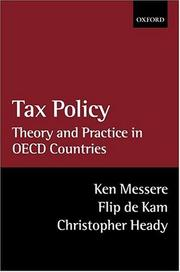 Cover of: Tax Policy