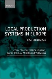 Cover of: Local Production Systems in Europe: Rise or Demise?