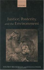 Cover of: Justice, Posterity, and the Environment