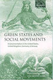 Cover of: GREEN STATES AND SOCIAL MOVEMENTS: ENVIRONMENTALISM IN THE UNITED STATES,...; JOHN S. DRYZEK...ET. AL