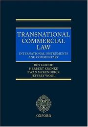 Cover of: Transnational Commercial Law