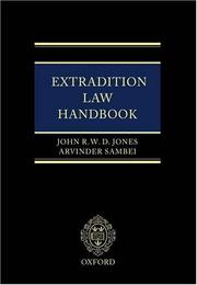Cover of: Extradition Law Handbook