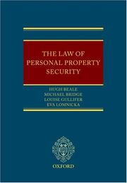 Cover of: The Law of Personal Property Security