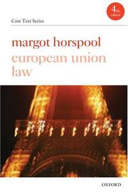 Cover of: European Union Law (Core Text Series)