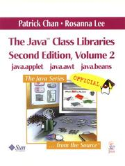 Cover of: The Java(TM) Class Libraries, Volume 2