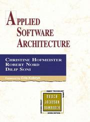 Cover of: Applied Software Architecture
