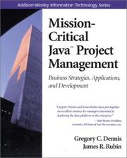 Cover of: Mission-Critical Java(TM) Project Management