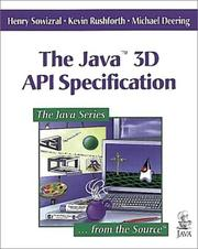 Cover of: The Java(TM) 3D API Specification
