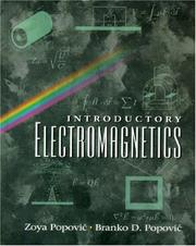 Cover of: Introductory Electromagnetics