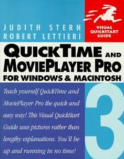 Cover of: Quicktime 3 & Movieplayer Pro (Visual QuickStart Guide)
