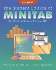 Cover of: The Student Edition of Minitab for Windows 95 and Windows Nt