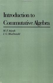 Cover of: Introduction to Commutative Algebra