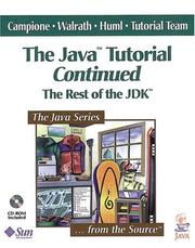 Cover of: The Java Tutorial Continued