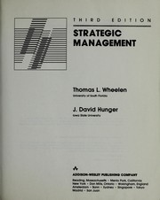 Cover of: Strategic Management (Managing Human Resources Series)