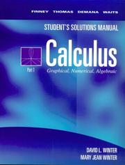 Cover of: Student's Solutions Manual Calculus